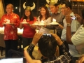 The AFEO Chairman  and other celebrants Celebrate their  birthday during the Welcome Dinner